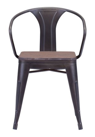Helix Dining Chair Rusty+Elm Wood Top (Set of 2)