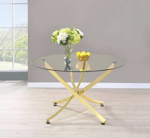 Chanel Modern Dining Table Brass