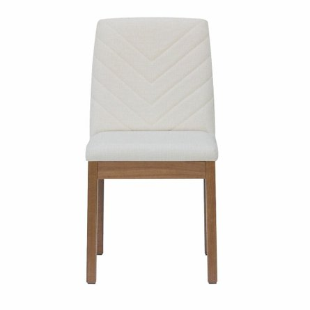 Cathere Chevron Dining Chair Beige