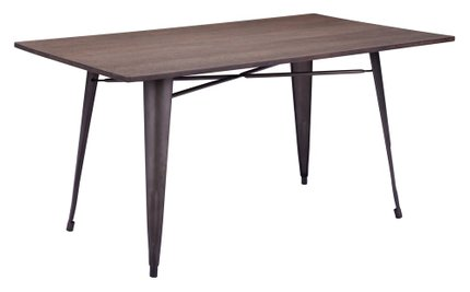 Titus Rectangular Dining Table Rustic Black And Brown