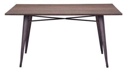 Titus Rectangular Dining Table Rustic Wood