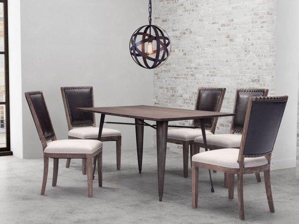 Titus Rectangular Dining Table Rustic Black And Brown