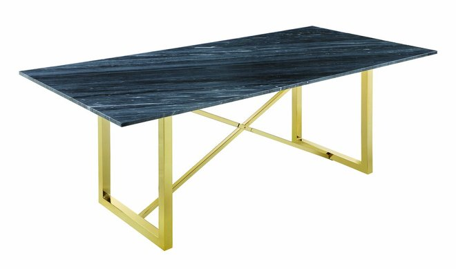 Arcade Rectangular Dining Table Black And Gold