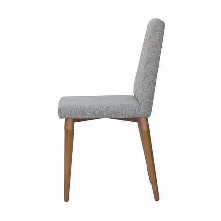 Utopia Chevron Dining Chair Gray