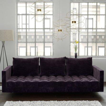 Granville Velvet Sofa Purple