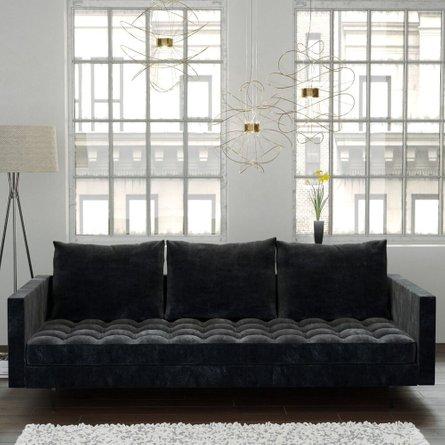 Granville Velvet Sofa Gray