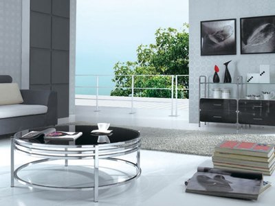 Dena Coffee Table Black & Chrome