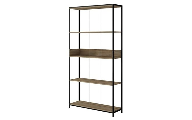 "Ellis 36.61"" Bookcase 1.0 Dark Oak/Black"