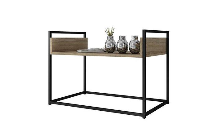"Ellis 27.76"" Coffee Table Dark Oak/Black"