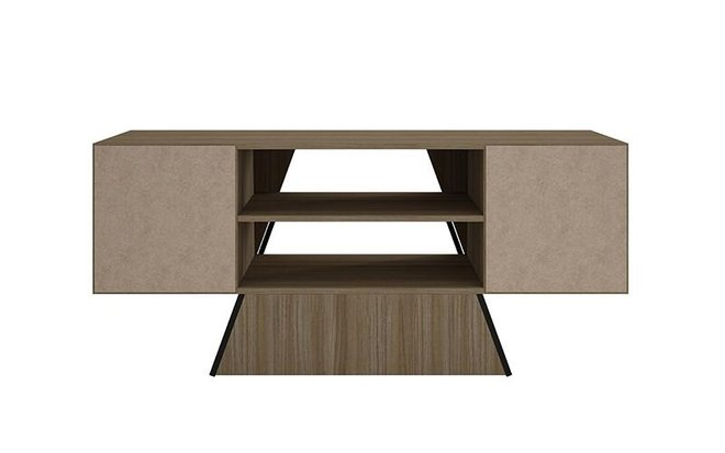 "Ellis 53.15"" TV Stand Dark Oak/Black"
