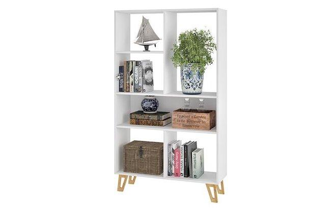 Doris Mid Century Bookcase White