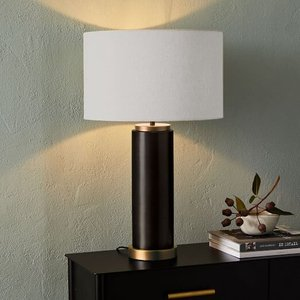 West Elm Pillar Table Lamp Antique Bronze