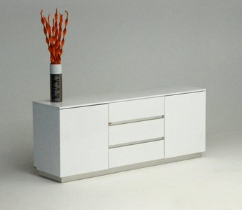 A&X Skyline Crocodile Lacquer Buffet White