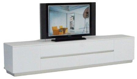 A&X Skyline Crocodile TV Stand White