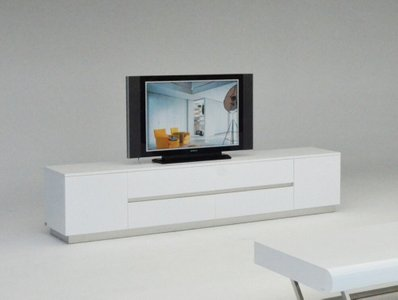 A&X Skyline Crocodile TV Stand White