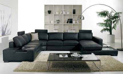 Divani Casa Sectional Sofa Black