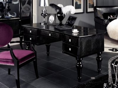 A&X Manor  Modern Office Desk Black