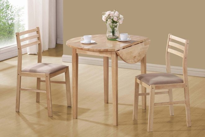 Casual Dining Set For 2 Natural And Beige