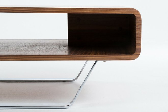 Avis Modern Matte Coffee Table Walnut