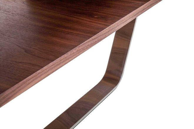 Avis Modern Matte Coffee Table Walnut