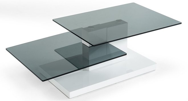 Modrest Dove Contemporary Coffee Table White High Gloss