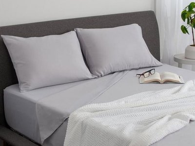 Sleepy's Basic Soft 4-Piece King Sheet Set Gray