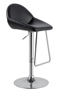 Modrest Mel - Contemporary Eco-Leather Bar Stool Black