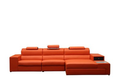 Divani Casa Polaris Reversible Sectional Sofa Orange
