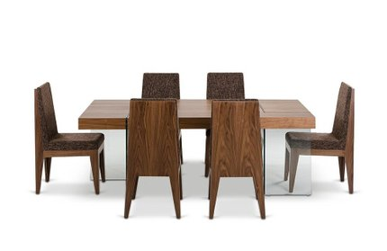 Aura Contemporary Floating Dining Table Walnut
