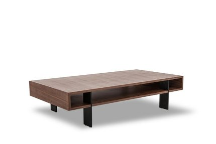 Modrest Stilt Coffee Table Walnut