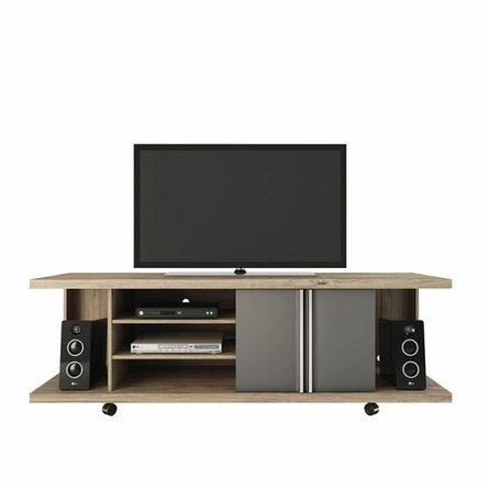 """Carnegie 71"""" TV Stand Nature/Onyx"""