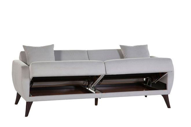 Flexy Sleeper Sofa Light Gray