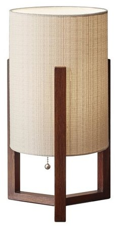 Quinn Table Lantern Walnut
