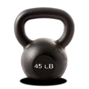 45 lb Kettlebell Black (Single Unit)
