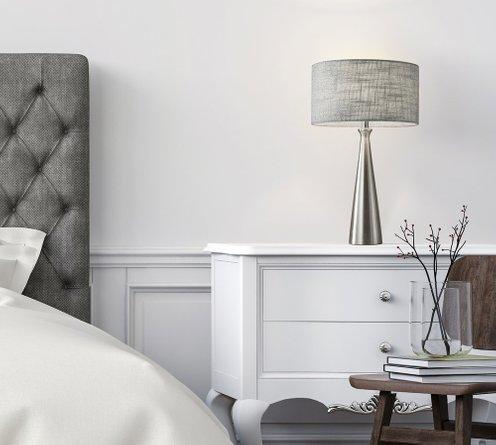 Linda Table Lamp Light Gray