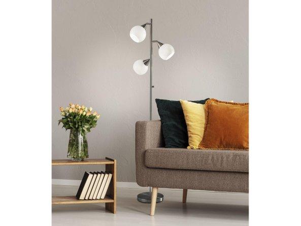 Phillip Tree Lamp Brushed Steel