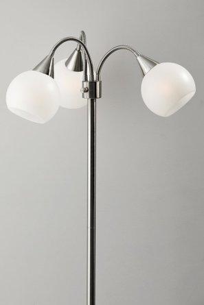 Phillip 3-Arm Floor Lamp Brushed Steel