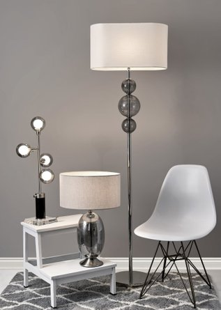 Bailey Table Lamp Brushed Steel