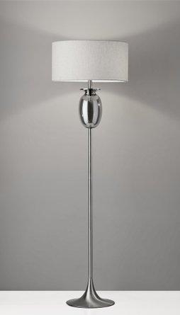 Bailey Floor Lamp Brushed Steel
