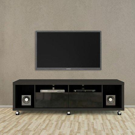 "Cabri 71.06"" TV Stand 1.8 Black Matte"