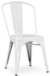 Elan - Modern Metal Side Chair White (Set of 4)