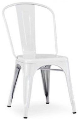 Elan - Modern Metal Side Chair White (Set of 4)