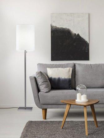 Liam Floor Lamp Brushed Steel