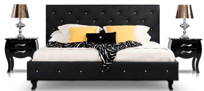 Monte Carlo Modern Eastern King Bed Black