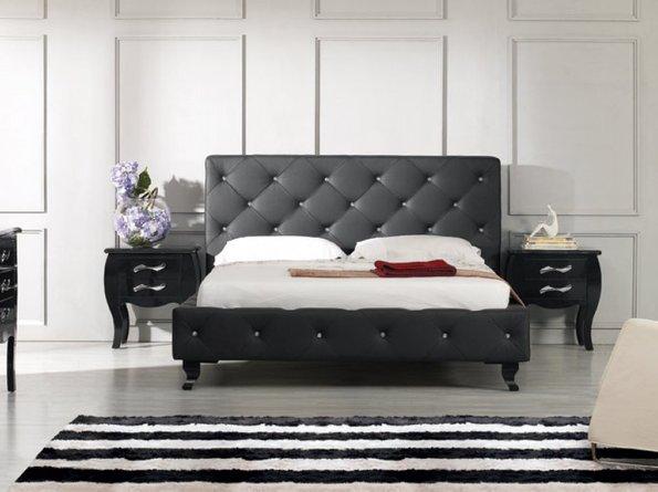Monte Carlo Modern Queen Bed Black