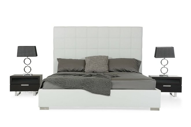 Francis Eastern King Bed White