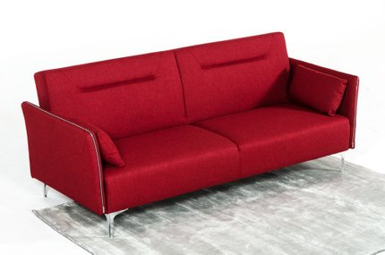 Divani Casa Davenport Modern Sofa Bed Red