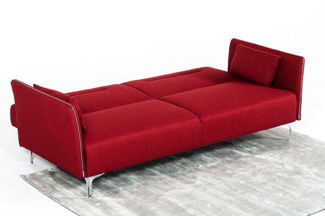 Divani Casa Davenport Modern Sofa Bed Red