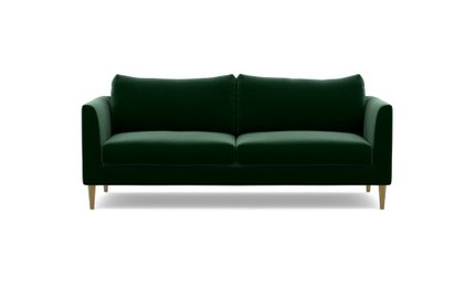 Owens Fabric Loveseat Sofa Emerald
