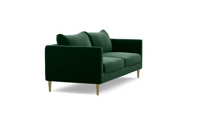 Interior Define Owens Fabric Loveseat Sofa Emerald
